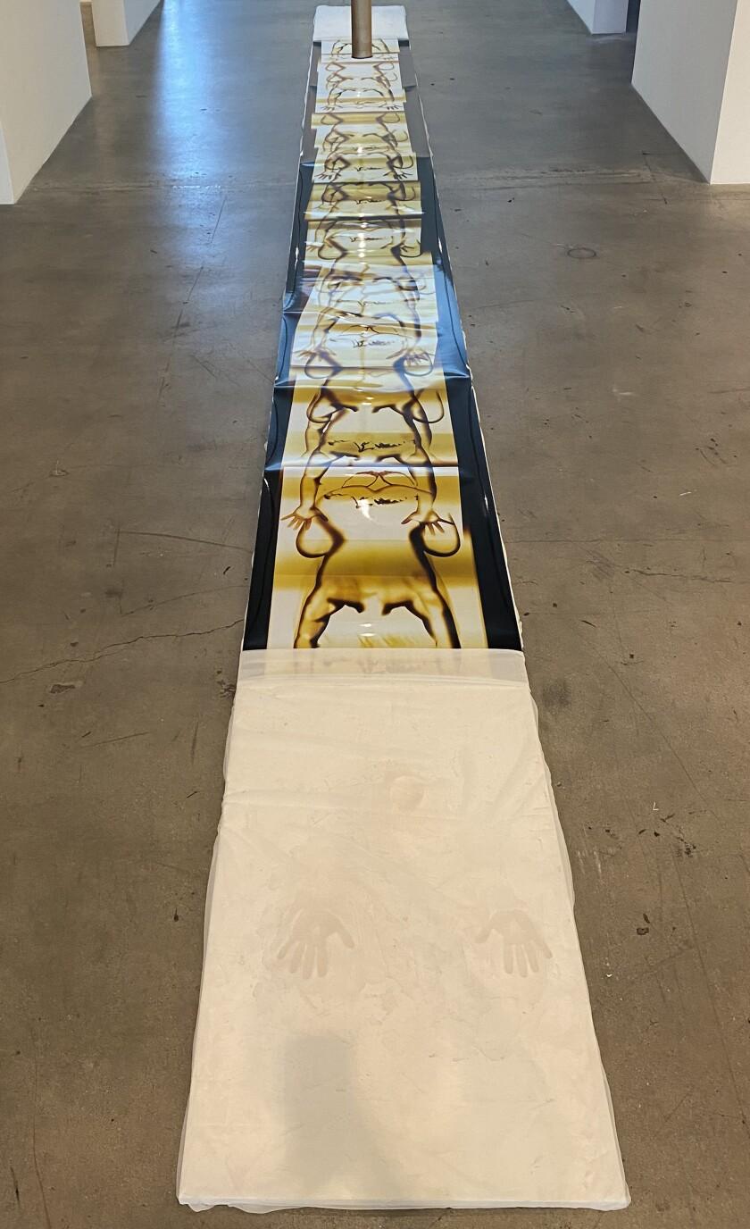 """Child's Pose"" by Farrah Karapetian at Diane Rosenstein Gallery."