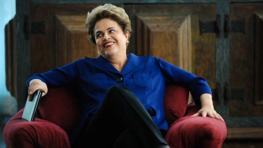 """Suspended Brazilian President Dilma Rousseff says """"Brazil has all the conditions in place to welcome the athletes, the tourists and the world's leaders"""" to the Summer Olympics next month."""