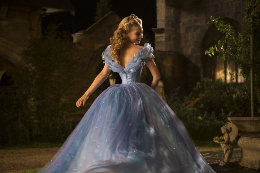 "Lily James stars as ""Cinderella"" in the new live-action version of the classic Disney fairytale."