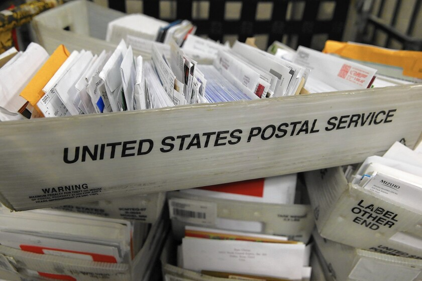 The U.S. Postal Service has been ordered to sweep for undelivered mail-in ballots.