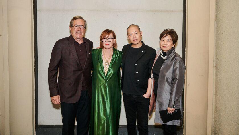 David C. Martin and Mary Klaus Martin (Co-Founders of the MADWORKSHOP Foundation), Jason Wu, Sharon