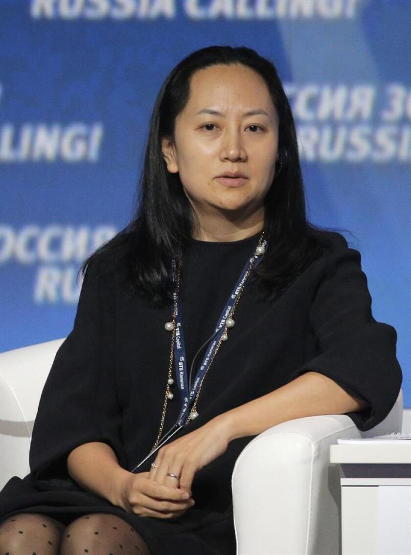 The chief financial officer of Chinese telecommunications giant Huawei, Meng Wanzhou. EFE-EPA/File