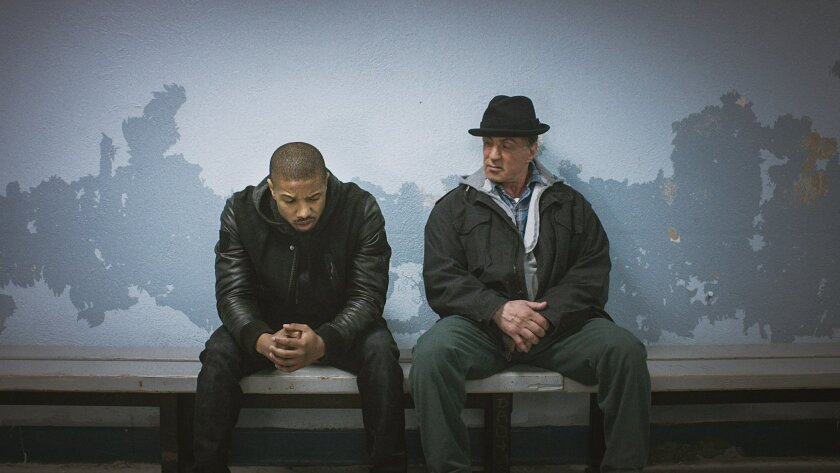 "Ryan Coogler's 2015 film ""Creed,"" with Michael B. Jordan, left, brought Sylvester Stallone back to the character that first brought him stardom."
