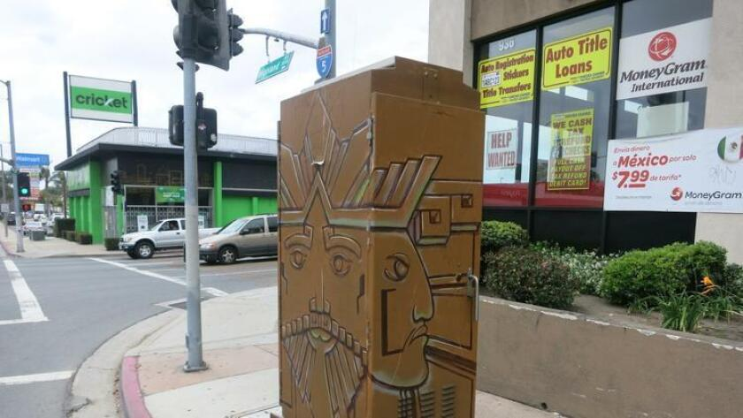 National City utility box painting project by Isauro Amigable Inocencio Jr. (Paul Ecdao)