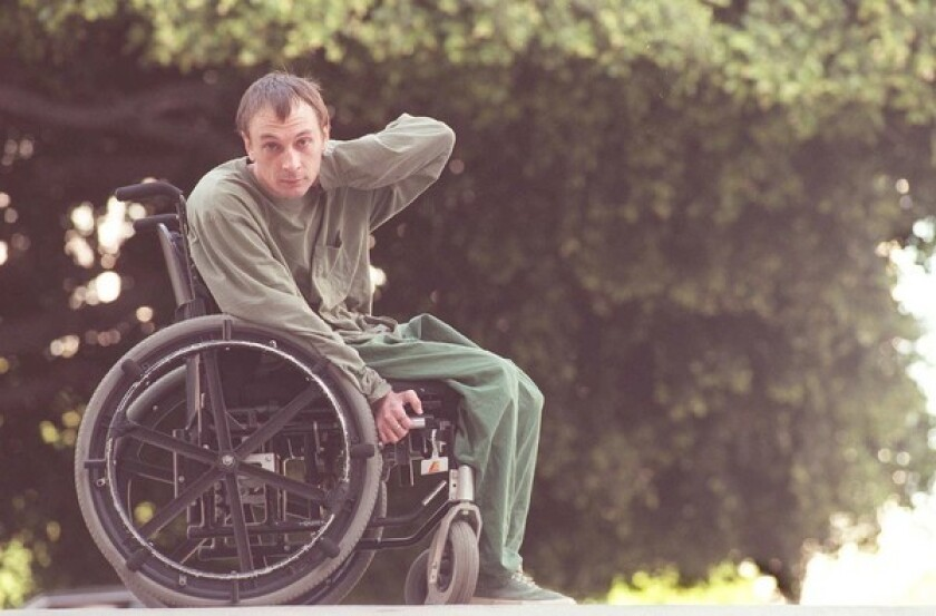 Vic Chesnutt was paralyzed after a 1983 drunk-driving accident and had limited use of his arms and hands. His darkly humorous songs won the respect of music critics and his fellow musicians.