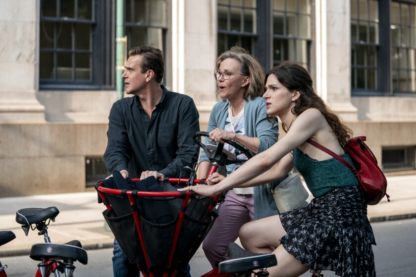 """Jason Segel, from left, Sally Field and Eve Lindley in """"Dispatches from Elsewhere."""""""