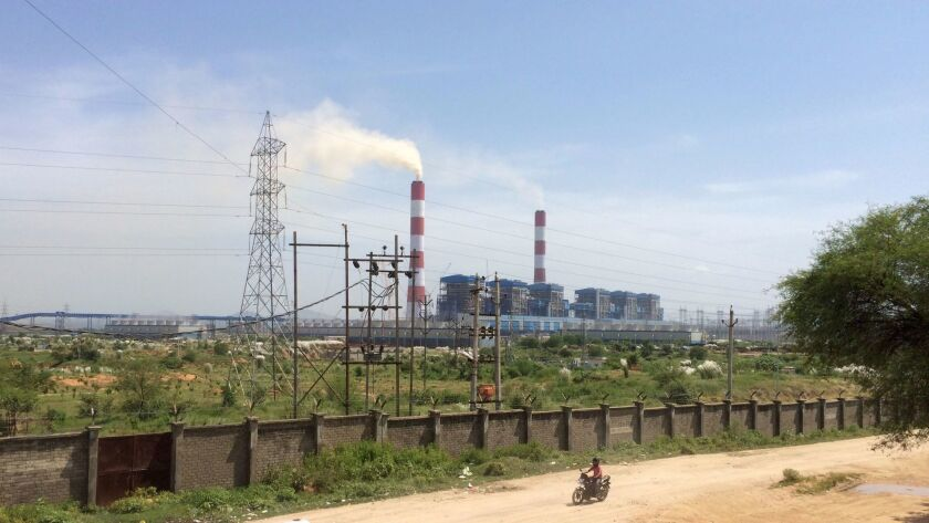 A coal-fired power plant in Sasan, India, financed in part by the U.S. Export-Import Bank, is shown in 2015.