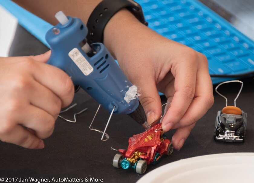 Adding a spoiler switch to a Hot Wheels car