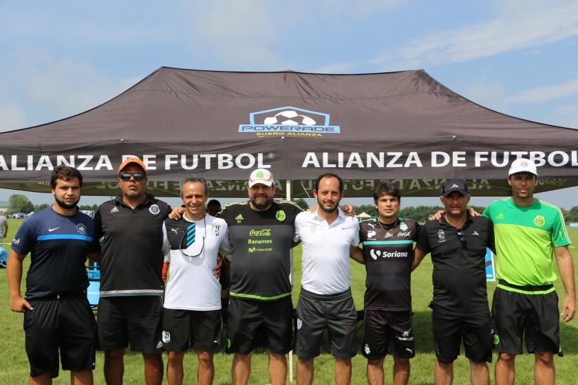 Visores y entrenadores que han estado presentes en el Tour de Alianza de Futbol Hispano.