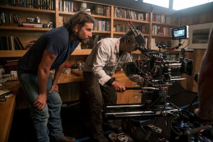 """Bradley Cooper on the set of """"A Star Is Born."""""""