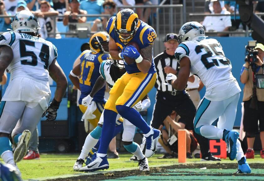 Rams tight end Tyler Higbee