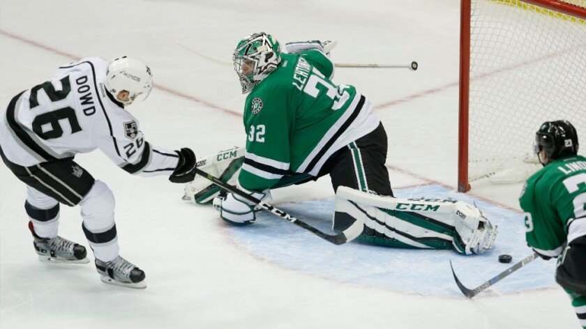 Kings' Nic Dowd relieved to score his first NHL goal... now if only he could find the puck