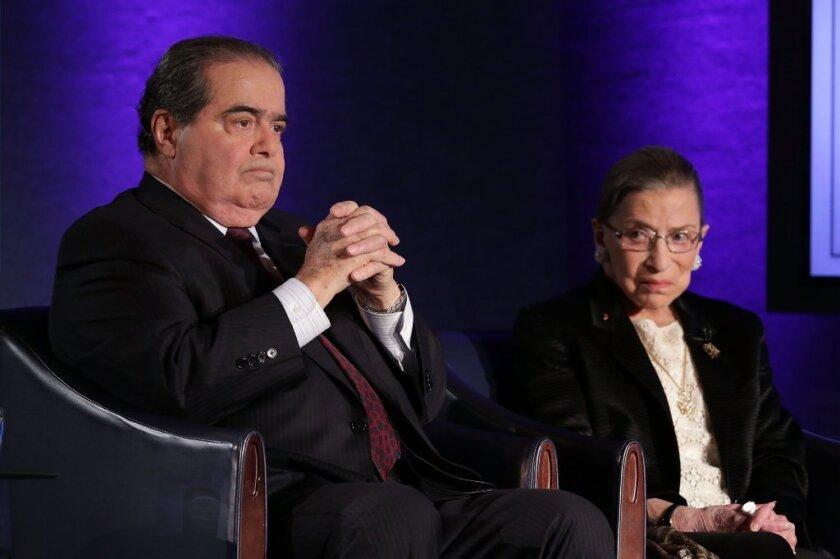 Antonin Scalia and Ruth Bader Ginsburg