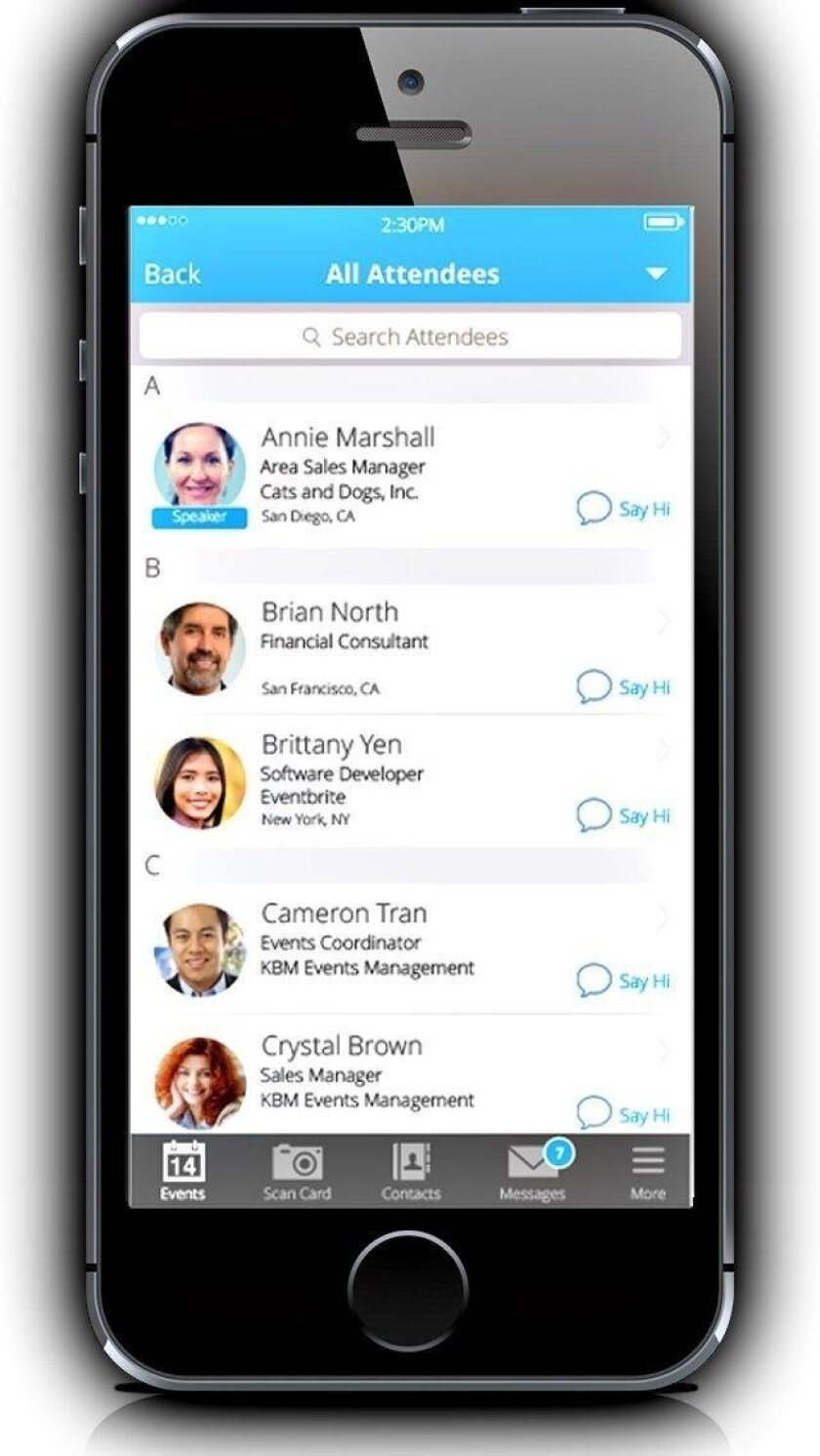 San Diego's Whova makes an app that helps attendees navigate and network at conventions and events