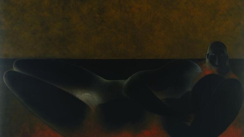 """""""Recumbent Figure"""" (1984) by Ricardo Martinez de Hoyos"""