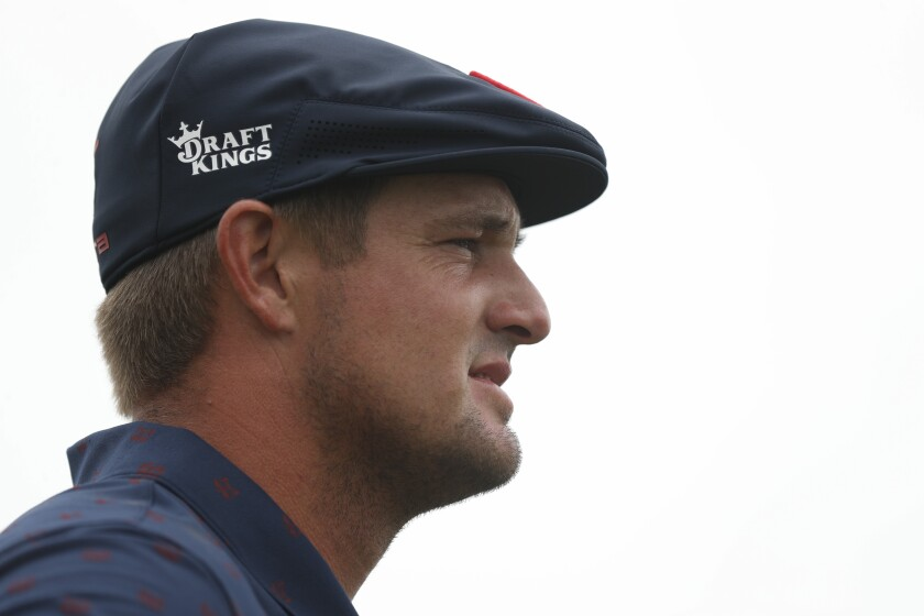 Bryson DeChambeau looks on at the fourth hole during the third round of the U.S. Open on June 19, 2021.