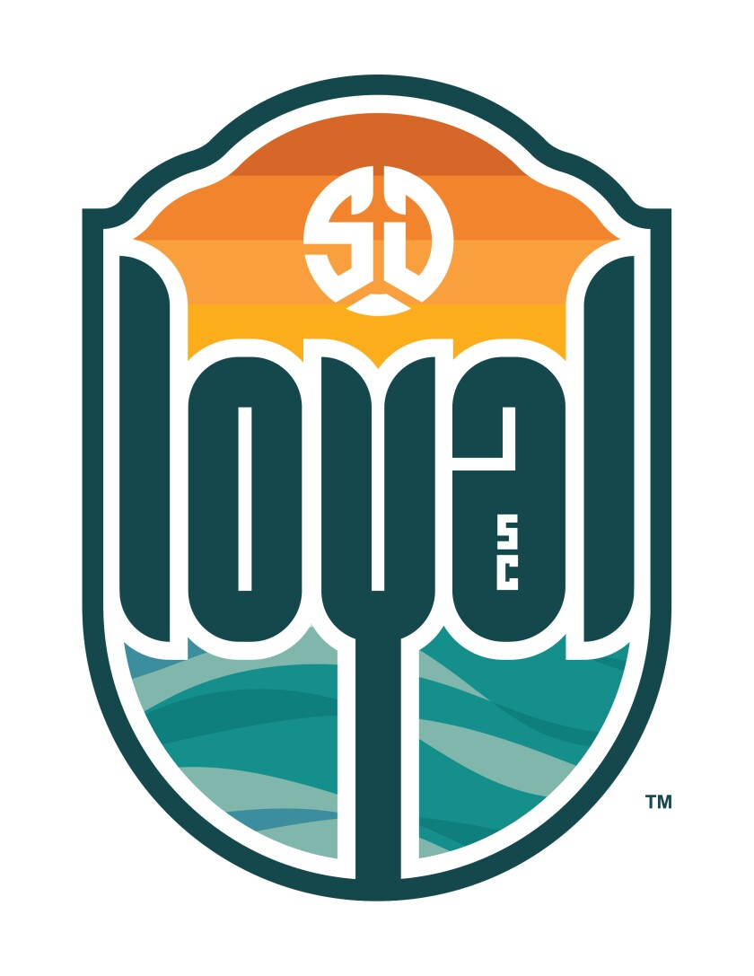 The crest for San Diego Loyal SC, which will begin in March in the second-division USL.