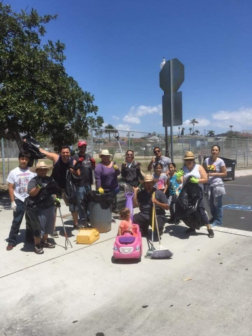 Members of Compassionate Solutions during a community cleanup.