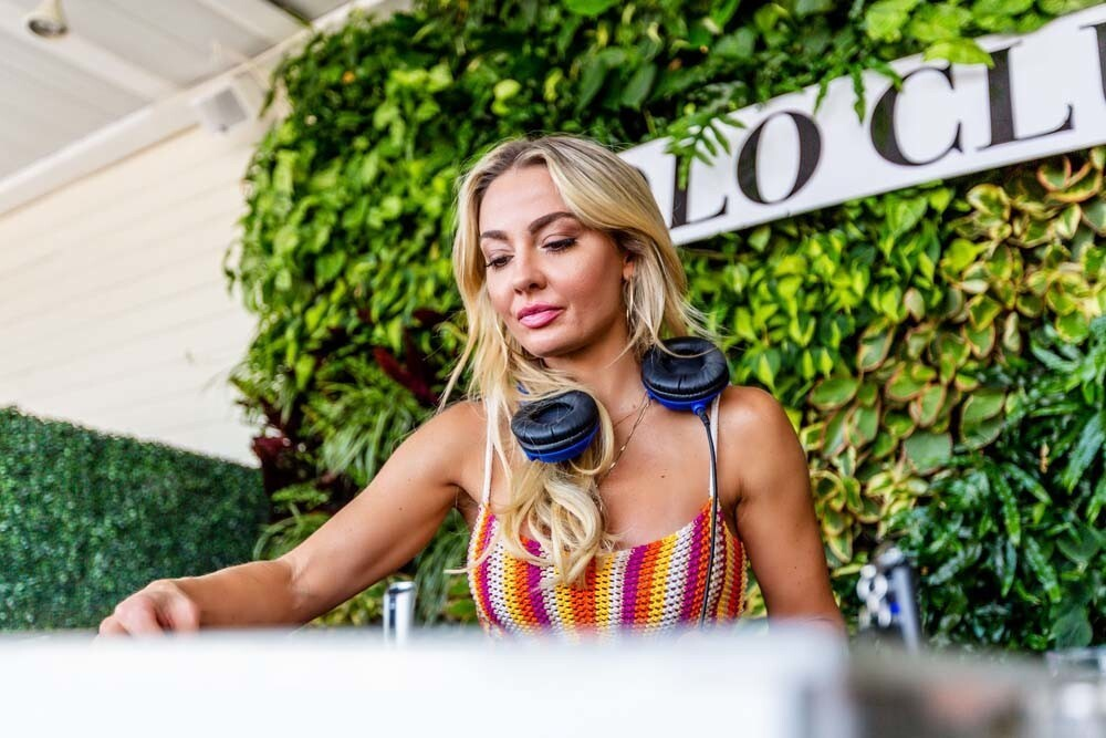 Australian DJ, television personality, dancer and model Brooke Evers spun at the Polo Club at Rooftop by STK at Andaz San Diego on Sunday, Aug. 5, 2018.
