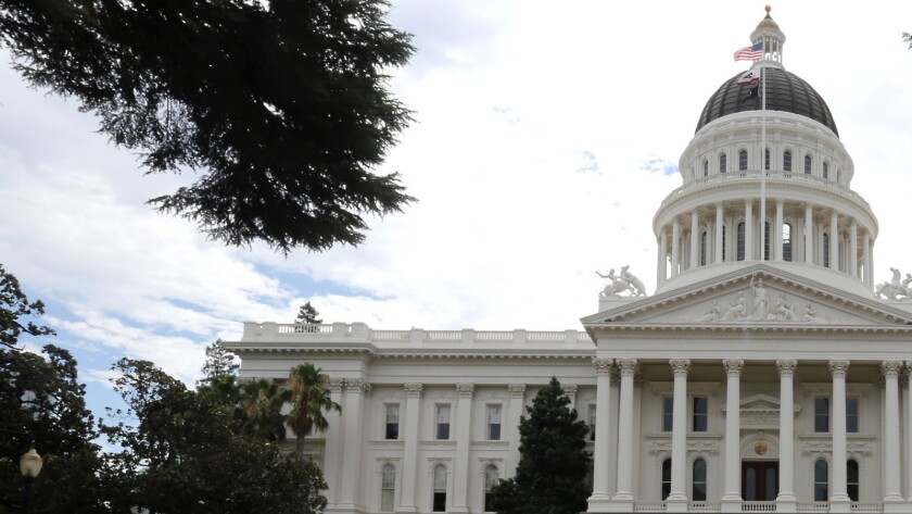 The state Capitol in Sacramento, Calif.