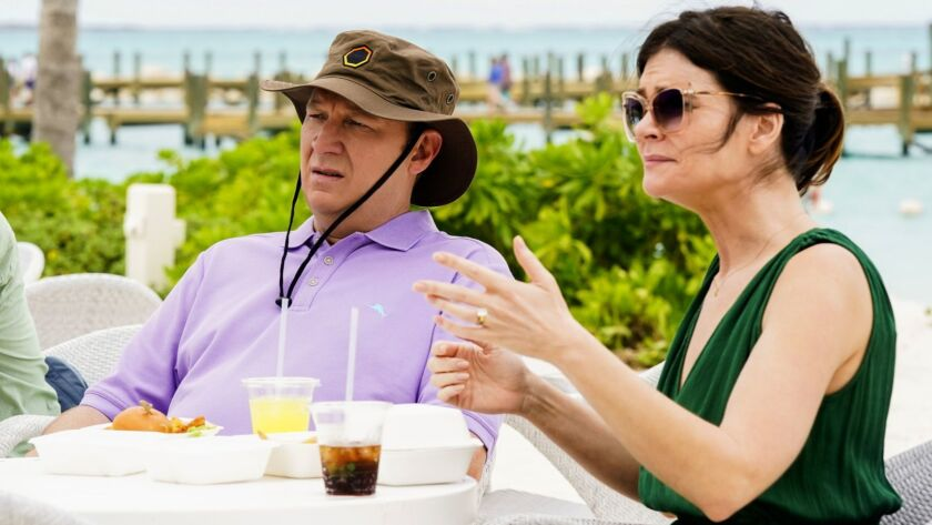 "Dan Bakkedahl and Betsy Brandt in ""Life in Pieces"" on CBS."