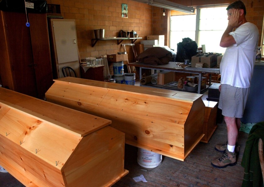 The monks, makers of handcrafted caskets like those shown above, engaged in a five-year legal battle that ended at the Supreme Court last week.