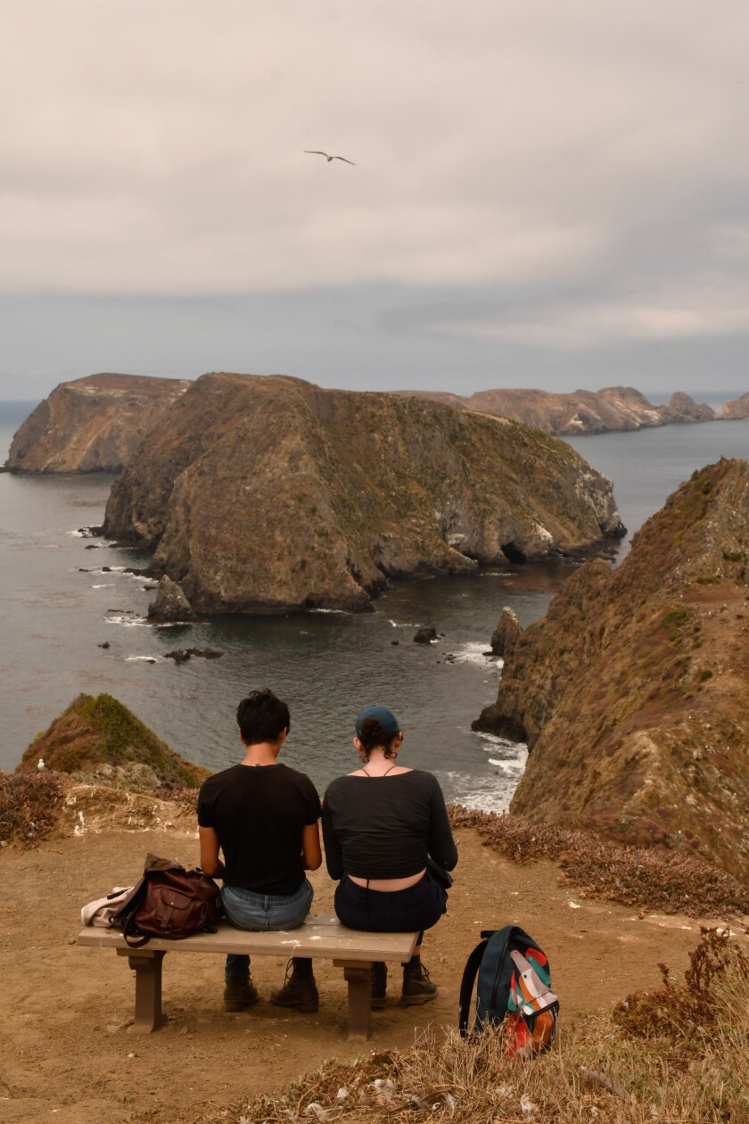 Photo of Anacapa Island from Inspiration Point.