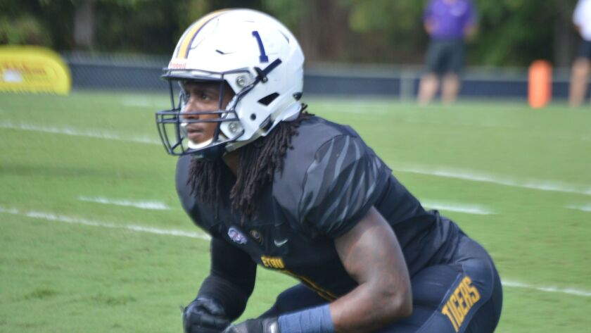 Verry Jackson has 30 tackles, three interceptions and six pass breakups for East Texas Baptist this season.