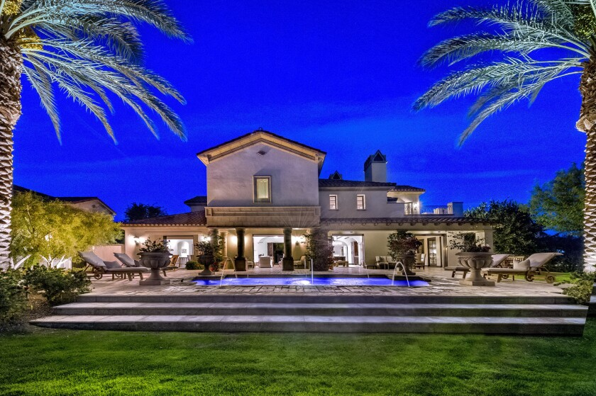 Stallone's house in the exclusive Madison Club community