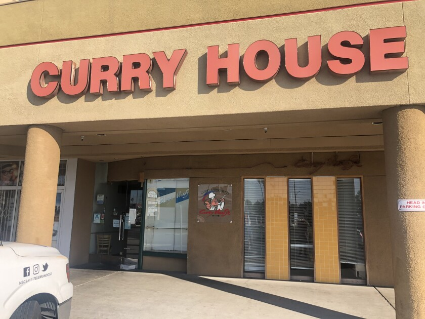 Curry House abruptly shut down all its restaurants Monday. A sign posted at the Gardena location informed workers that their final paychecks could be picked up at a later date.