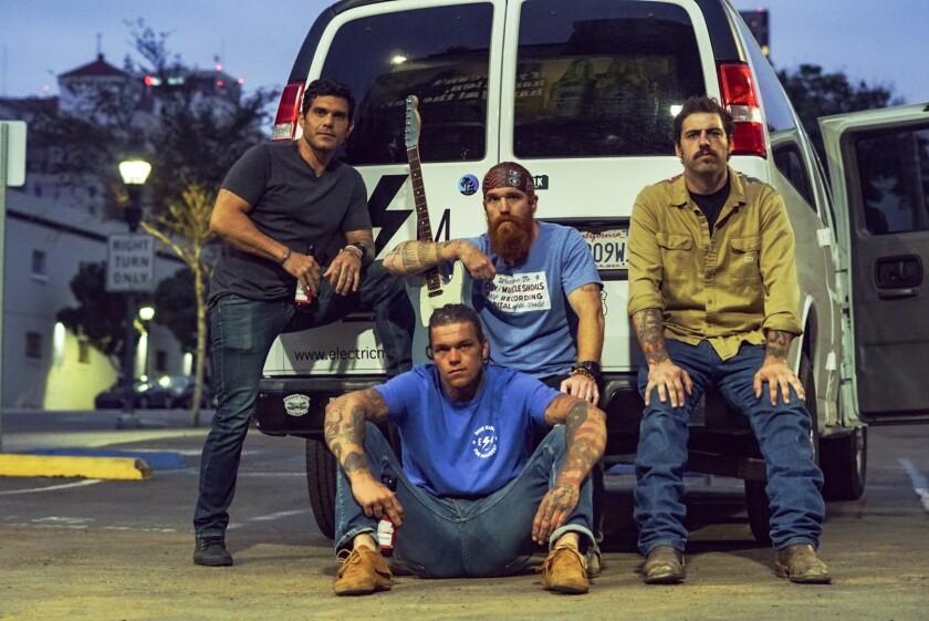 Electric Mud, from left, Phil Narmada, Matt Hansen, Marc Hansen and Colton Cori.