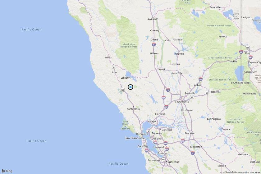 Earthquake: 3.2 quake strikes near Cobb, Calif.