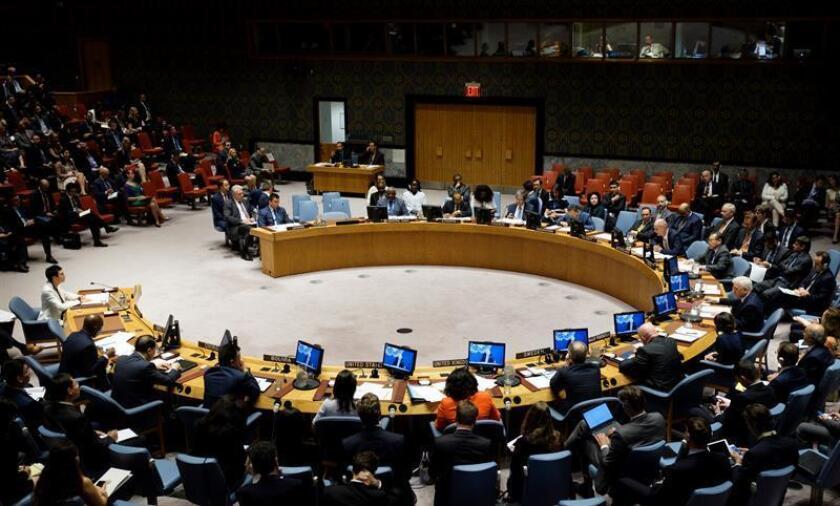 El Consejo de Seguridad de las Naciones Unidas durante una reunión. EFE/Archivo