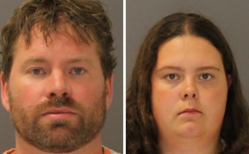 Stephen Howells II and Nicole Vaisey of Hermon, N.Y., were arrested Aug. 15.