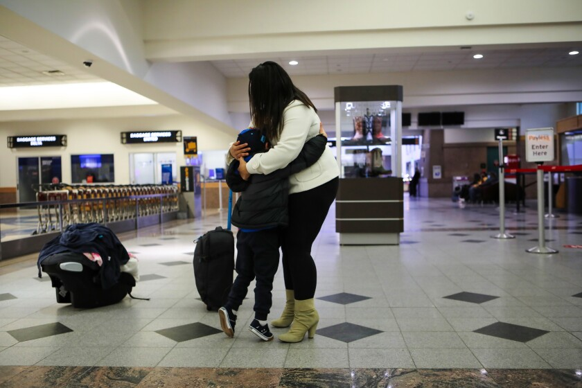 A young Honduran asylum seeking mother is reunited with her 5-year-old son