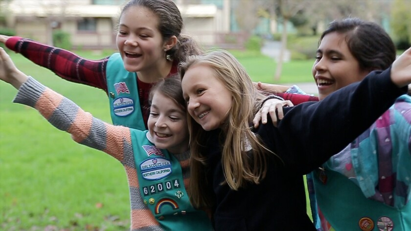 These Northern California Girl Scouts took an energy-conservation course at Stanford University.