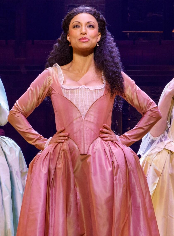 """Sabrina Sloan portrays Angelica Schuyler in """"Hamilton."""""""