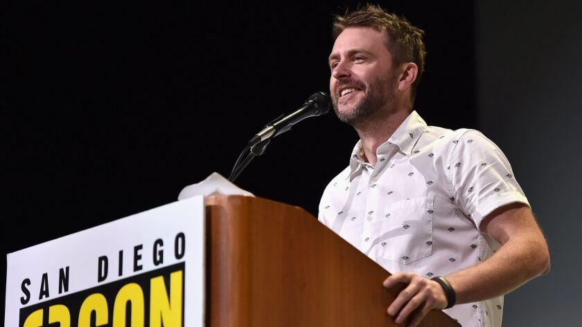 Chris Hardwick moderates the Marvel panel at Comic-Con on July 23, 2016.