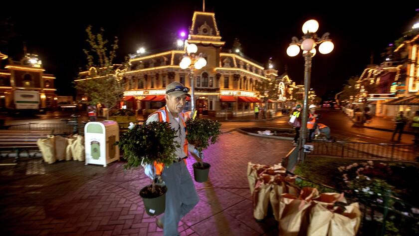 Turning Disneyland into a winter wonderland