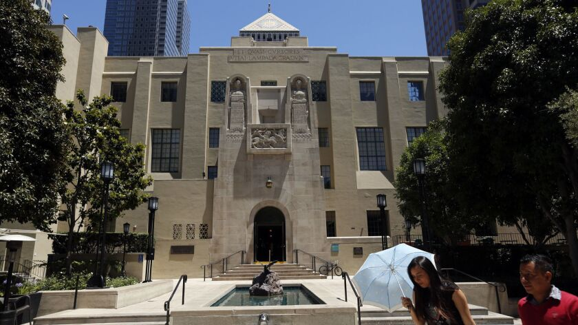 The Los Angeles Public Library in downtown Los Angeles on June 15, 2017.