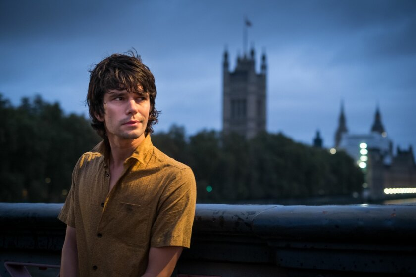 """This handout photo provided by BBC America, shows actor Ben Whishaw who plays Danny, posin, in a promotional photo for """"London Spy"""". Whishaw is trapped in a web of intrigue within a world of secrets. But he's a long way from James Bond in """"London Spy,"""" a TV thriller that explores the murky, morally ambivalent side of British espionage and power. (Joss Barratt/BBC America via AP)"""