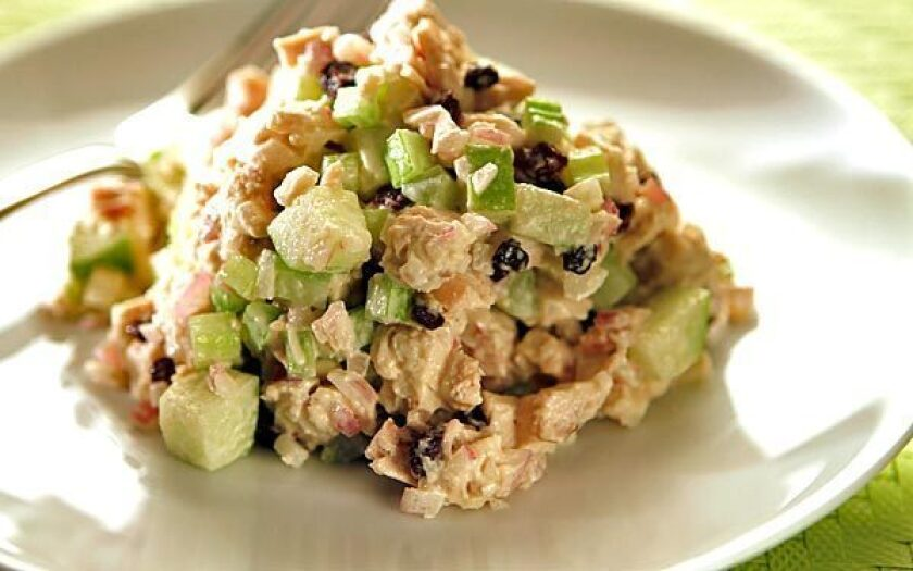 Green apple chicken salad from Lunch in Culver City.