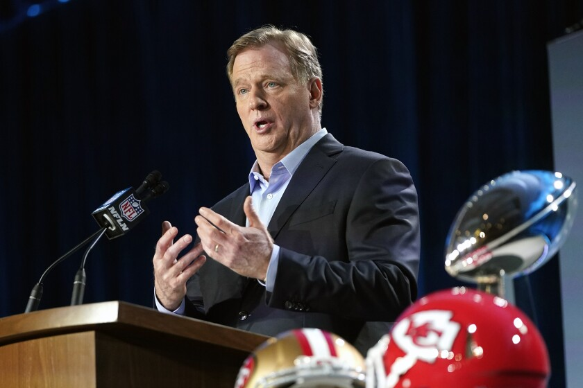 NFL Commissioner Roger Goodell is threatening forfeits for teams with COVID outbreaks.