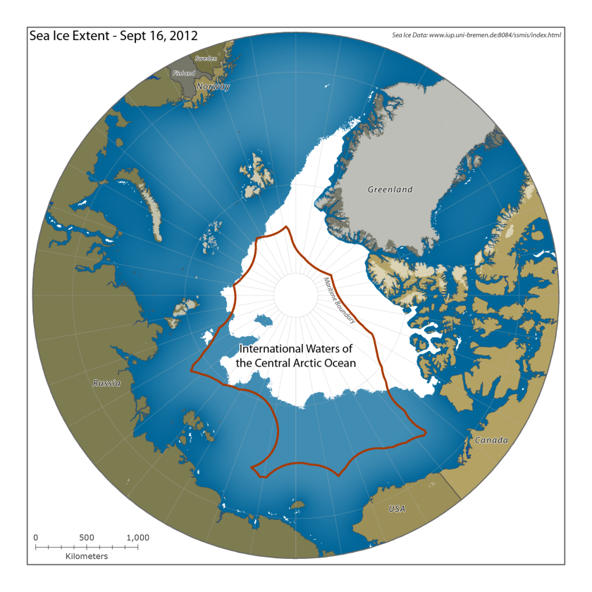 U.S. officials are pushing for a moratorium on commercial fishing in the international waters of the Arctic Ocean.