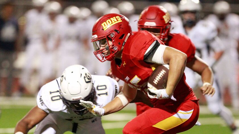Cathedral Catholic running back Adam Eastwood has 144 carries for 896 yards and 13 TDs.