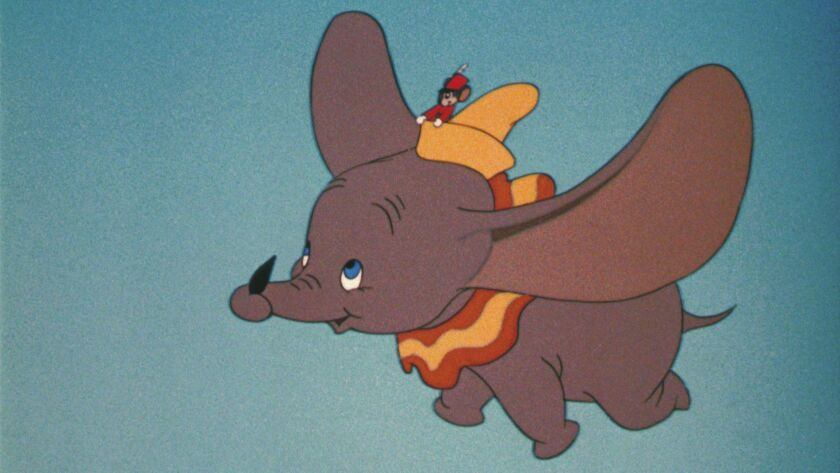 Drawing of Dumbo Flying from Disney for obit of Joe Grant. E–mail from Green, Howard [mailto:Howard.