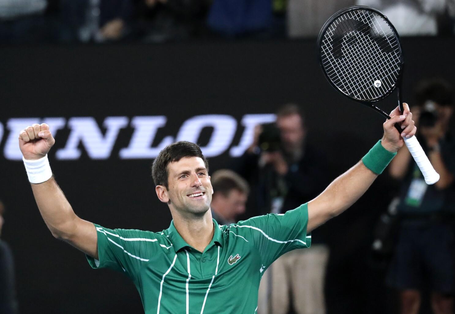 Australian Open Novak Djokovic Comes Back For 8th Title 17th Slam Los Angeles Times