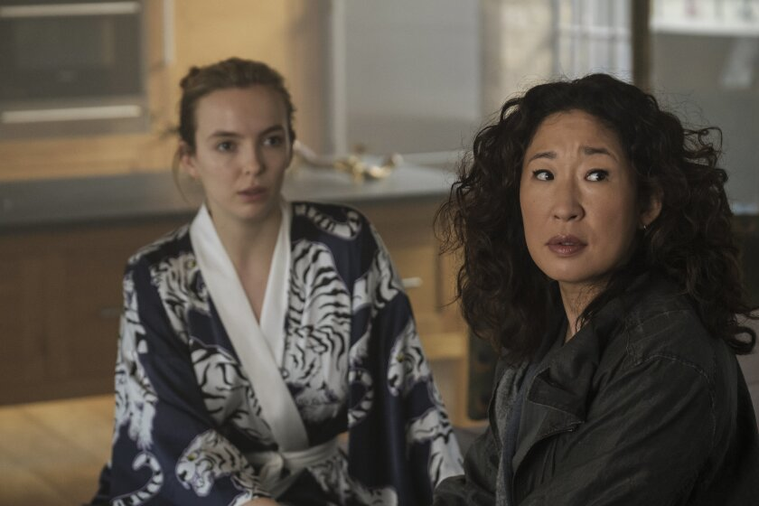 """Jodie Comer and Sandra Oh in """"Killing Eve"""""""