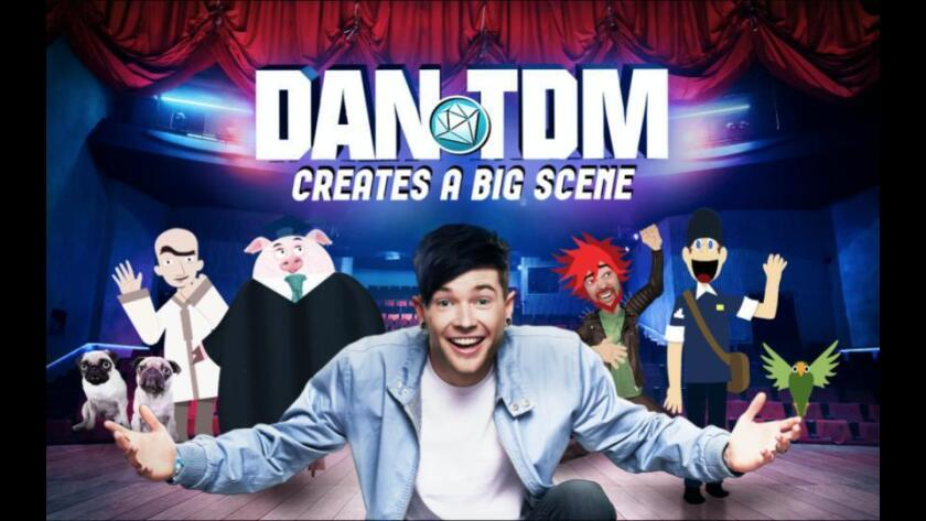 """An image unveiling the upcoming YouTube Red series """"DanTDM Creates a Big Scene"""""""