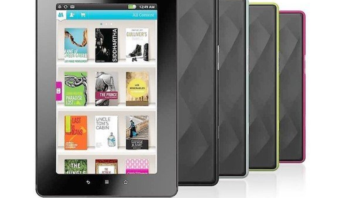 A comparison of three e-readers: Kindle Fire, Nook and Vox